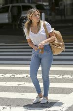 CHLOE BENNET in Denim at LAX Airport in Los Angeles 07/11/2018