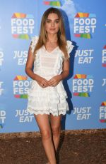 CHLOE LLOYD at Just Eat Food Fest in London 07/19/2018