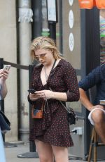 CHLOE MORETZ Out and About in Paris 07/01/2018