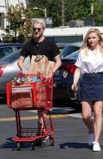 CHLOE MORETZ Shopping at Trader Joe