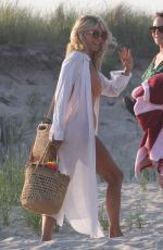 CHRISTIE and SAILOR BRINKLEY on the Beach in Hamptons 07/01/2018