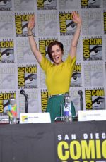 CHYLER LEIGH at Supergirl Panel Comic-con in San Diego 07/21/2018