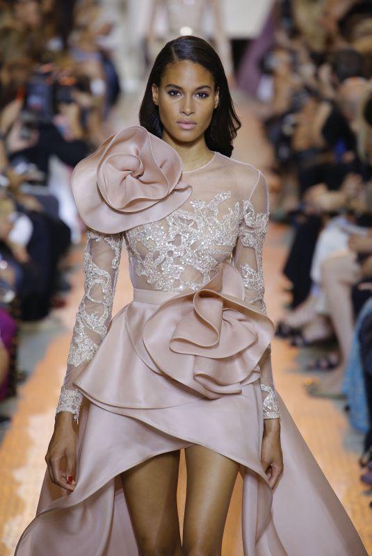 CINDY BRUNA at Elie Saab Runway Show at Paris Fashion Week 07/04/2018