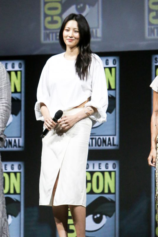 CLAUDIA KIM at Warner Bros. Panel at Comic-con in San Diego 07/21/2018