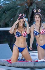 CLAUDIA ROMANI and ANAIS ZANOTTI Celebrate 4th of July in Miami 07/04/2018
