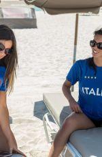 CLAUDIA ROMANI and MARIE CARNIGI in Bikini on South Beach 07/22/2018