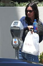 COURTENEY COX Leaves La Scala in Beverly Hills 07/05/2018