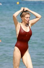 COURTNEY LOVE in Swimsuit at Club 55 in St Tropez 07/26/2018