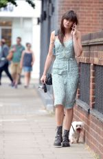 DAISY LOWE Out with Her Dog in London 07/09/2018