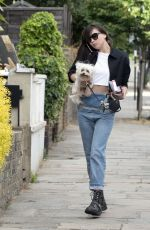 DAISY LOWE Out with Her Dog in London 07/17/2018