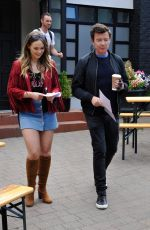 DAISY WOOD-DAVIS on the Set of Hollyoaks in Liverpool 07/17/2018