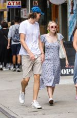 DAKOTA FANNING and Henry Frye Out for Lunch in New York 07/21/2018