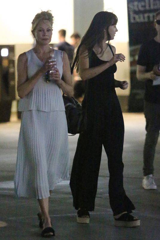 DAKOTA JOHNSON and MELANIE GRIFFITH Night Out in Hollywood 07/07/2018