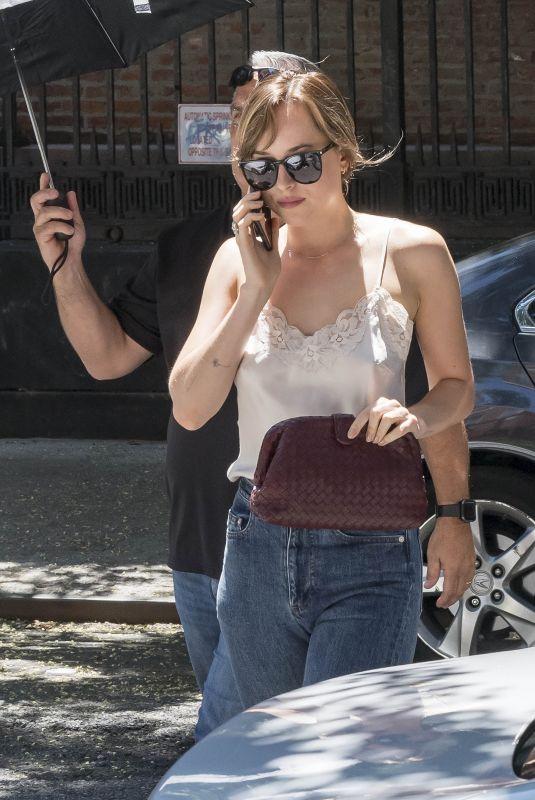 DAKOTA JOHNSON Arrives Back at Her Hotel in New York 07/19/2018