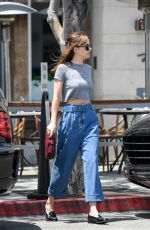 DAKOTA JOHNSON Leaves Thibiant in Beverly Hills 07/11/2018