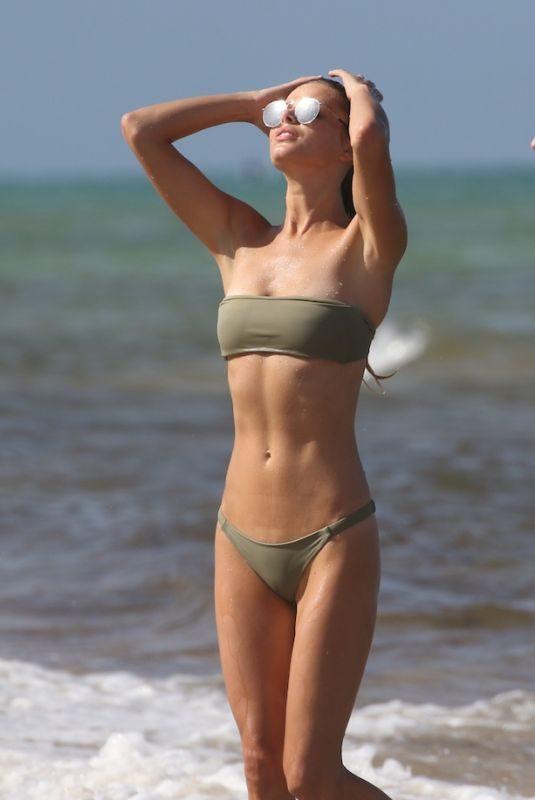 DANIELLE KNUDSON in Bikini Celebrates Her 29th Birthday at a Beach in Miami 07/17/2018