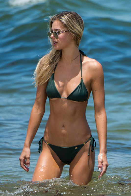 DANIELLE KNUDSON in Bikini on the Beach in Miami 07/16/2018