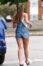 DANIELLE LLOYD in Denim Shorts Out in Birmingham 07/23/2018