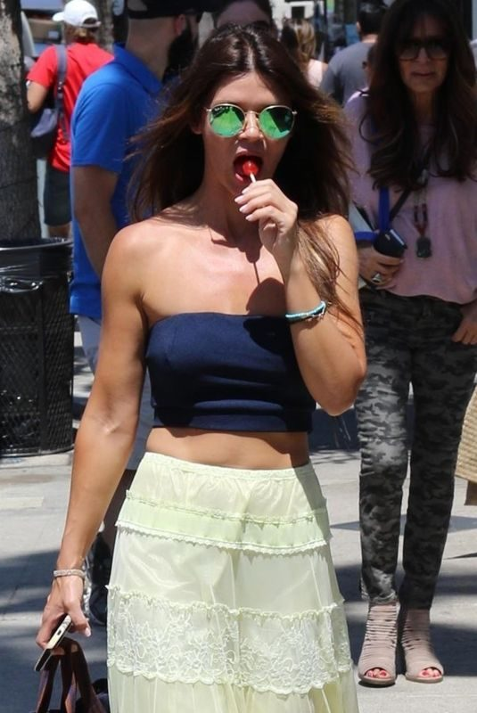 DANIELLE VASINOVA Licking a Lollipop in Los Angeles 07/15/2018