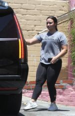 DEMI LOVATO Leaves a Gym in Los Angeles 07/12/2018