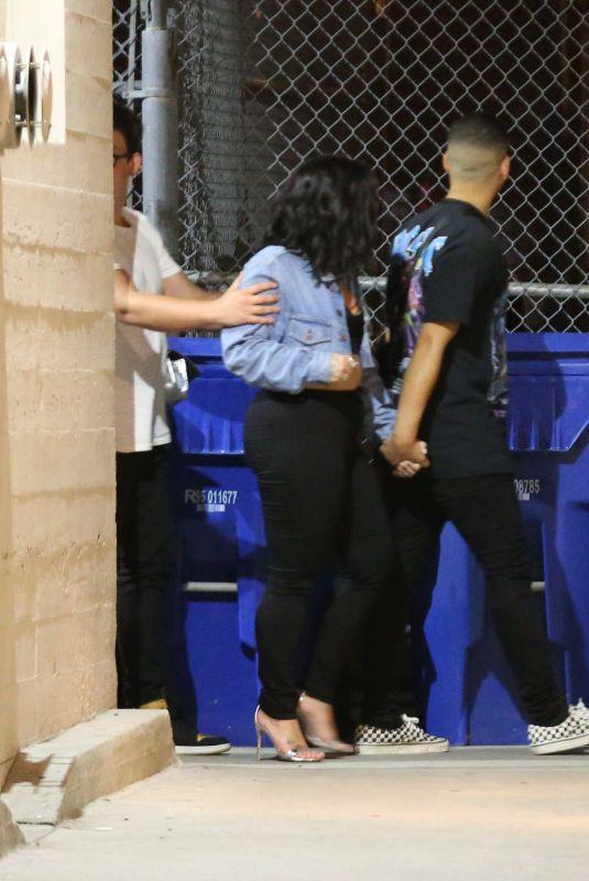DEMI LOVATO Leaves Warwick Nightclub in Hollywood 07/14/2018