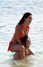 DEMI ROSE MAWBY and ALEXANDRA CANE in Bikinis at a Beach in Cape Verde, June 2018