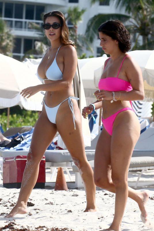 DEVIN BRUGMAN, NATASHA OAKLEY and CAROLINE VREELAND in Bikinis at a Beach in Miami 07/15/2018