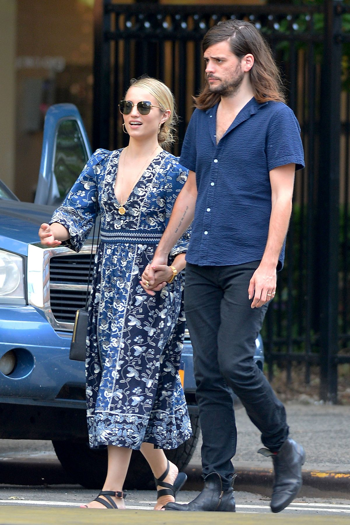 DIANNA AGRON and Winston Marshall Out in New York 07/19 ...