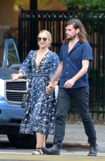 DIANNA AGRON and Winston Marshall Out in New York 07/19/2018