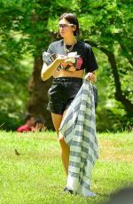 DUA and RINA LIPA at a Picnic in Central Park in New York 07/29/2018