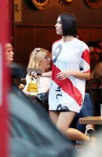 DUA LIPA Watching World Cup Semi-final at Forty Dean in London 07/11/2018