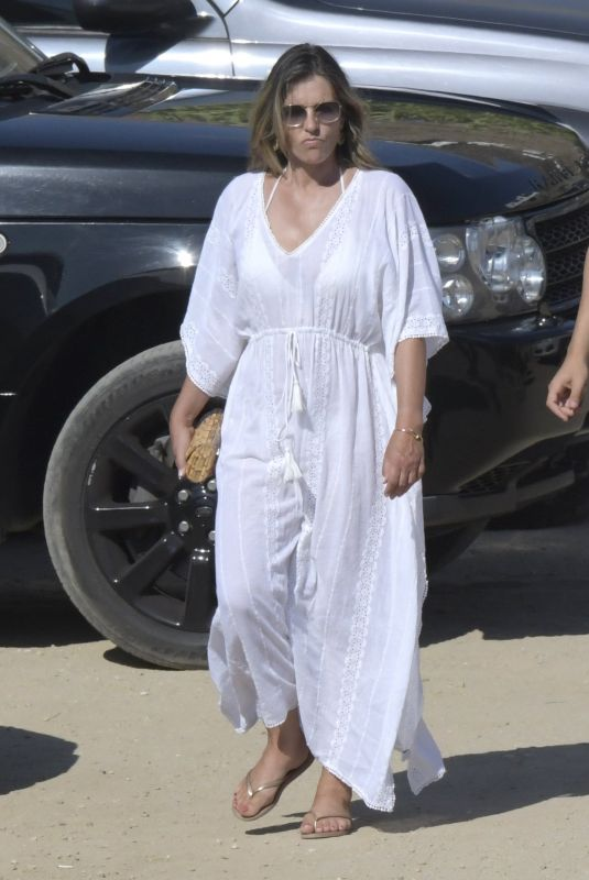 ELIZABETH HURLEY Out at a Beach in Mykonos 07/19/2018