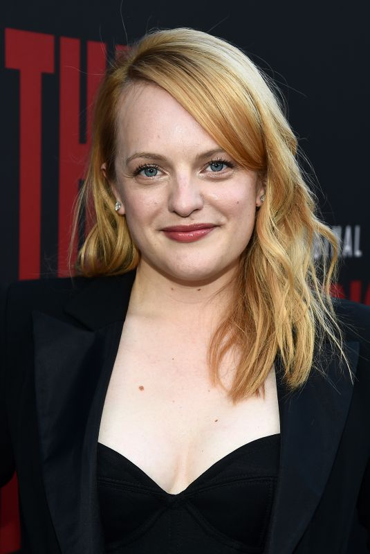 ELIZABETH MOSS at The Handmaid