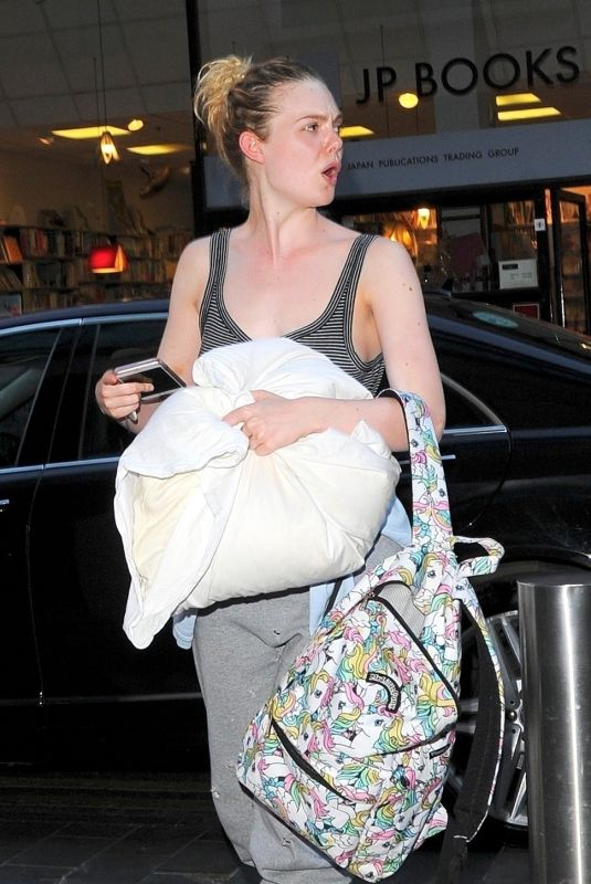 ELLE FANNING at Ham Yard Hotel in London 07/23/2018