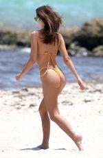 EMILY RATAJKOWSKI in a Orange Bikini at a Beach in Miami 07/21/2018