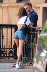 EMILY RATAJKOWSKI in Denim Shorts Out in New York 07/18/2018