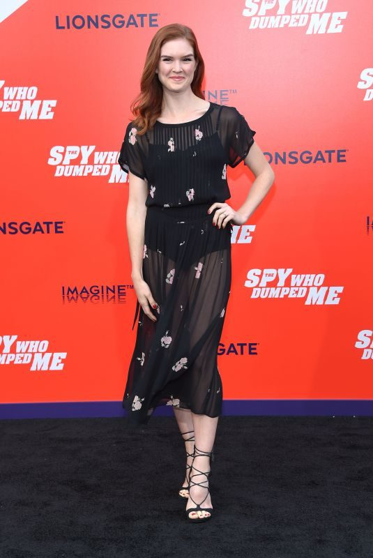 EMILY TYRA at The Spy Who Dumped Me Premiere in Los Angeles 07/25/2018