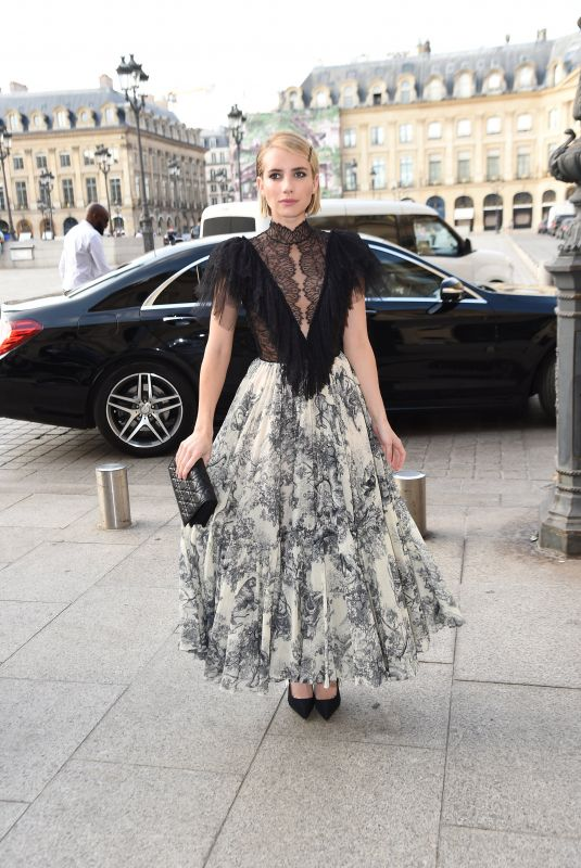 EMMA ROBERTS at Dior Dinner at Place Vendome in Paris 07/02/2018