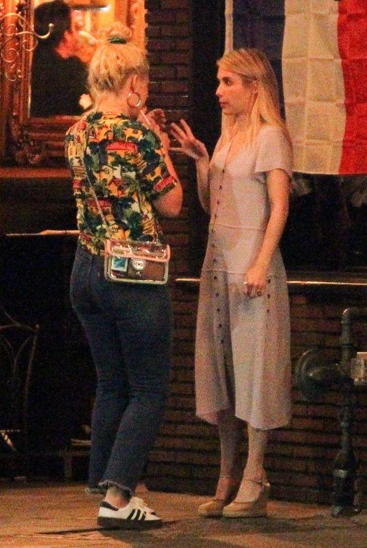 EMMA ROBERTS Night Out in Los Feliz 07/28/2018