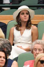 /EMMA WATSON at Wimbledon Tennis Championships in London 07/14/2018