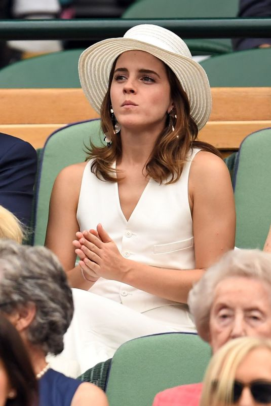 /EMMA WATSON at Wimbledon Tennis Championships in London 07/14/2018