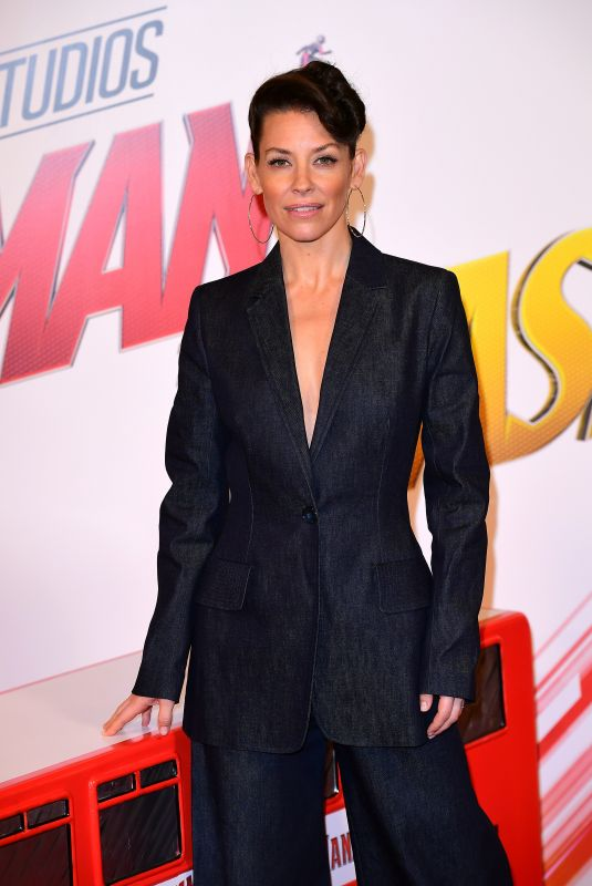 EVANGELINE LILLY at Ant-man and the Wasp Photocall in London 07/17/2018