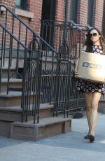 FAMKE JANSSEN Leaves a Post Office in New York 07/10/2018
