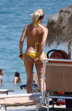 FERNE MCCANN in Yellow Bikini in Marbella 06/26/2018