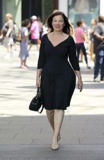FRAN DRESCHER Leaves Extra in Los Angeles 07/27/2018