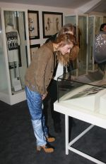 FRANCES BEAN COBAIN at an Exhibition of Some of Kurt