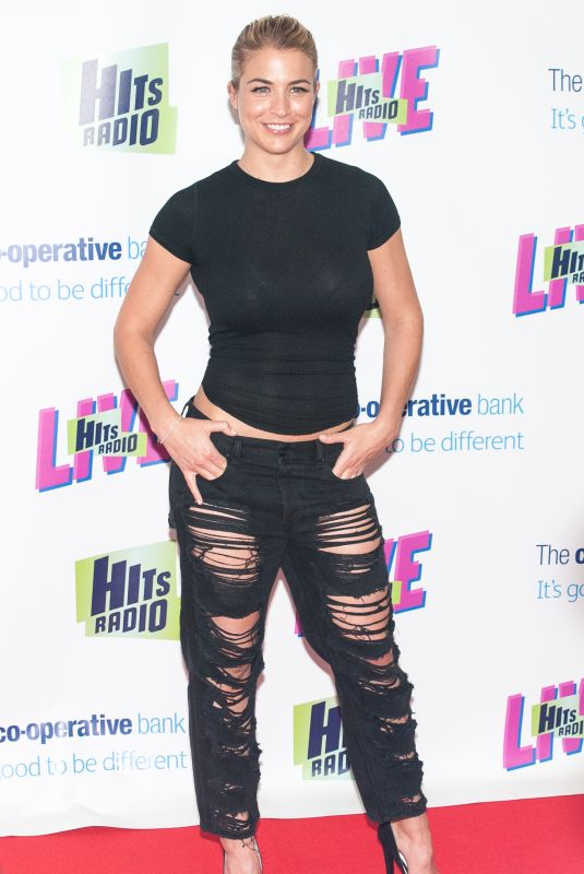 GEMMA ATKINSON at Hits Radio Live at Manchester Arena 07/14/2018
