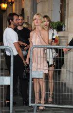 GEORGIA MAY JAGGER and SUKI WATERHOUSE Leaves Miu Miu Fashion Shoe in Paris 06/30/2018