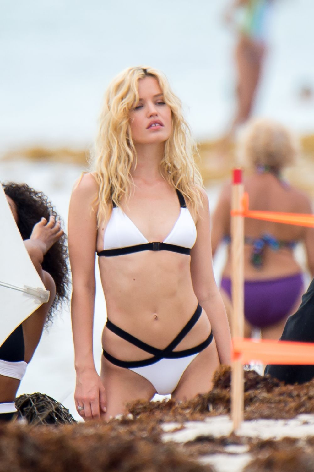 Watch Georgia may jagger for bikini and swimsuit photoshoot in miami video