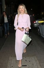 GEORGIA TOFFOLO Leaves Park Chinois Restaurant in London 07/03/2018